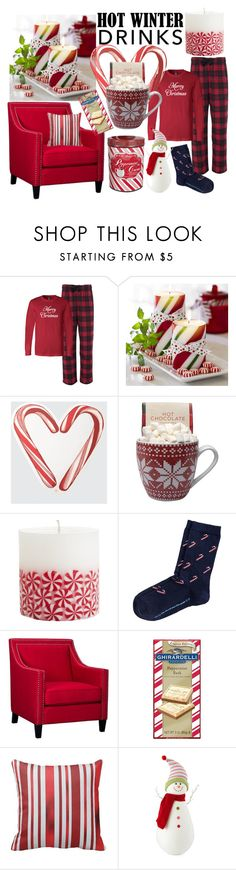 """""""peppermint hot cocoa"""" by kc-spangler ❤ liked on Polyvore featuring interior, interiors, interior design, home, home decor, interior decorating, Draper James, Elements, North Pole Trading Co. and R.H. Macy & Co."""