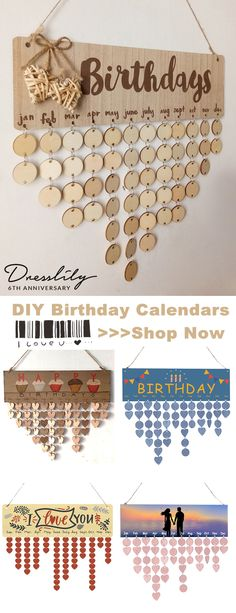 45% OFF!!Birthday Calendar DIY Wooden Reminder Board. The perfect solution that you will never forget a Birthday again. #dresslily #birthday