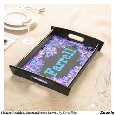 Shop Watercolor Pink Roses and Green Leaves Serving Tray created by FunnyBrain. Personalize it with photos & text or purchase as is! Flower Boarders, Flower Frame, Food Serving Trays, Valentines Design, Orange, Yellow, Unique Home Decor, White Elephant Gifts, Vintage Japanese
