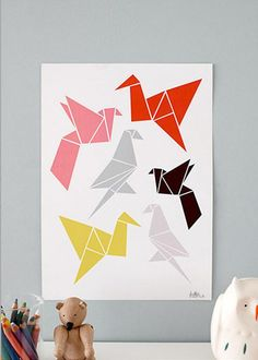 "Falt-Vögel: ""Origami Birds"" von Dottir and Sonur"
