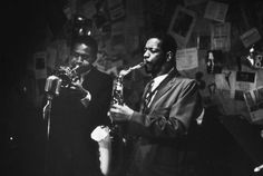 | Ornette Coleman on the saxophone and Don Cherry on...