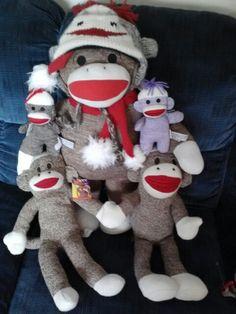 My Christmas Sock Monkeys!!!