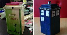 T.a.r.d.i.s.: My Little Doctor-who Time-traveling Machine Made Of Cigarette Boxes | Bored Panda