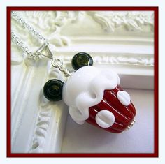 Mickey Mouse Cupcake Necklace, Mickey Mouse Necklace Pendant, Disney Style Jewelry. $45.00, via Etsy.