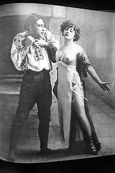 Colette, in her younger years. She caused a scandal when she tore away her blouse on the stage. Would she today?