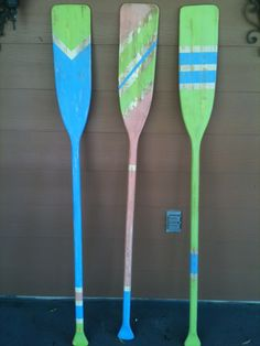 My version of decorated boat oars.