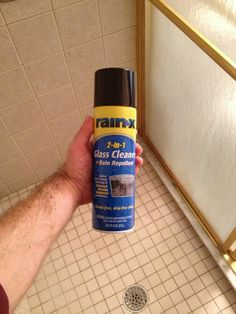 Love the idea of spraying Rain-X on the shower door after cleaning to prevent future soap scum build up!