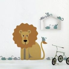 Adhesiu re-usable lleó #lion #stiker #wall #decoration #vinil