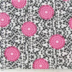 KNT- Scroll & Flower Jersey Knit Fabric