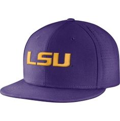 360270b6d Nike Men s LSU Tigers Purple True Vapor Fitted Baseball Hat