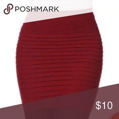 BLACK FRIDAY DEAL💕💕💕 burgundy pencil skirt Brand new, fits a small-medium Skirts Mini