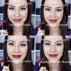 I finally got all the shades of the Wet n Wild Megalast lipsticks and I wanted to share with you this lip swatch video! I absolutely love the Wet n Wild Mega. Dark Lipstick, Lipstick Colors, Lip Colors, Red Lipsticks, Beauty Make-up, Beauty Hacks, Hair Beauty, Love Makeup, Makeup Looks