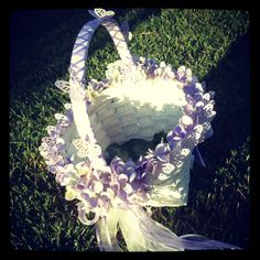 DIY flower girl basket