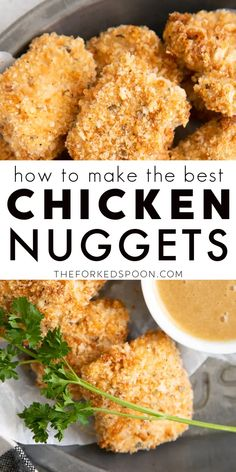 Chicken Nugget Recipes Baked, Fried Chicken Nuggets, Healthy Chicken Nuggets, Homemade Chicken Nuggets, Chicken Snacks, Healthy Baked Chicken, Nuggets Recipe, Parmesan, Spices