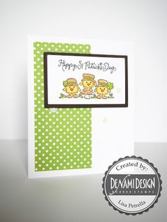 St Patrick's Day Chickies Card