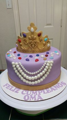 Amy's Crazy Cakes - Crown with Jewels Cake