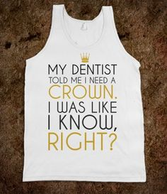 I need a crown tank top tee t shirt tshirt
