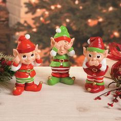 Hear No Evil, See No Evil, Speak No Evil Elves - TerrysVillage.com