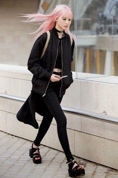Fernanda Ly Paris Fashion Week street style http://spotpopfashion.com/wwf9
