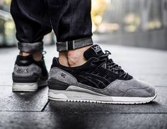 Asics Gel Respector Suede 'LT Moon Crater' Black/Grey & Moon Rock