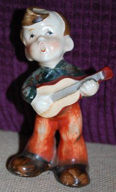 Vintage Occupied Japan Boy with Guitar Figurine by MadjacksStuff, $19.50