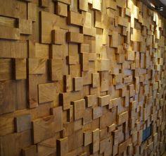 wood block wall treatment