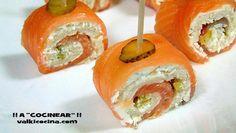 Aperitivo de salmón ahumado y pan de molde