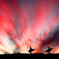 Edge of day.... Sam Page and Michael Spencer. Sydney North beaches… Photo: Blue Snapper.