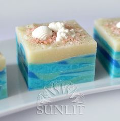 Sunlit Beach Handcrafted Artisan Soap by Sunlitsoap on Etsy. Stunning.