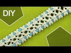 DIY / crossed sennit, chain - FOUR strands - YouTube