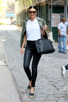 Love this whole look - someday I'll figure out if I can pull off leather leggings.