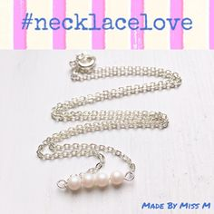 Pearlescent white pearls. Gorgeous bar necklace. Modern, young, feminine.