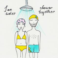 . Save Water Shower Together, Take A Shower, Markers, Eco Friendly, Aurora Sleeping Beauty, Doodles, Disney Characters, Illustration, Bathroom