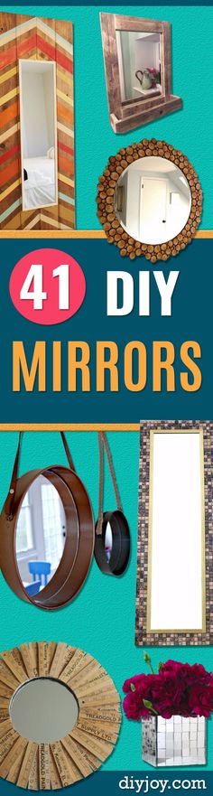 DIY Mirrors and Mirror Home Decor Projects - Best Do It Yourself Mirror Projects and Cool Crafts Using Mirrors - Home Decor, Bedroom Decor and Bath Ideas - Step By Step Tutorials With Instructions Mirror Crafts, Home Decor Mirrors, Diy Home Decor Bedroom, Diy Mirror, Diy Home Decor Projects, Diy Projects For Teens, Diy For Teens, Mirror Ideas, Decor Ideas