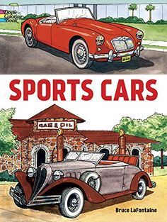 Sports Cars (Dover Coloring Books) by Bruce LaFontaine