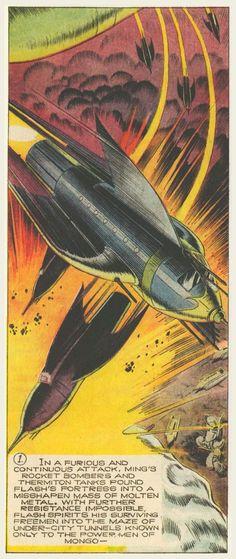 Flash Gordon, art by Alex Raymond Comic Book Artists, Comic Artist, Comic Books Art, Classic Sci Fi, Classic Comics, Space Fantasy, Sci Fi Fantasy, Science Fiction Art, Pulp Fiction