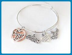 16th Birthday Bracelet, 16th birthday, bangle bracelet, Happy Birthday, Grand Daughter, Made with Love, granddaughter gift, valentines gift - Wedding bracelets (*Amazon Partner-Link)