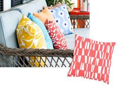 Pillow covers for front porch