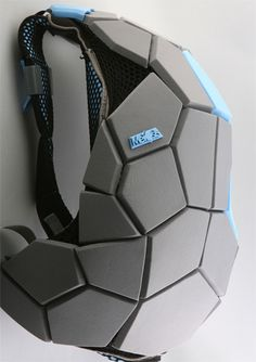 #faceted #facetado #low #poly #origami #back #pack #backpack #mochila #cinza #azul #gray #blue