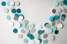 Teal white aqua and gray paper garland, Heart garland, Wedding decoration, bridal shower, Birthday party decor, Paper garland, K-C-0061 - http://www.babyshower-decorations.com/teal-white-aqua-and-gray-paper-garland-heart-garland-wedding-decoration-bridal-shower-birthday-party-decor-paper-garland-k-c-0061.html More