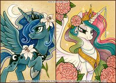 Princesses of Night and Day by *Katie-W on deviantART