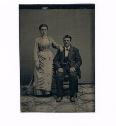 Late 1870's Couple Man and Woman