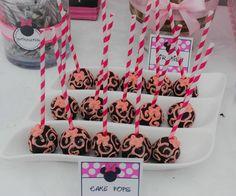 Minnie Mouse 3rd Birthday Party By La Chic Treat CAKE POPSSWIRLS