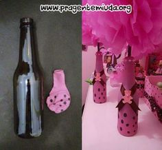 PAP - How reupholster bottles with balloons - Tips for Mom