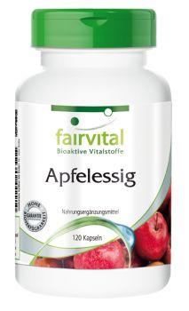 Apfelessig - 120 Kapseln | Vitalstoffe & Gesundheitsprodukte online kaufen | Fairvital