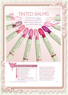 Pixi Makeup tinted brilliance balm: love these...long wearing and beautiful...love the Rose shade