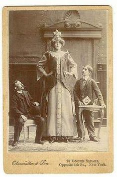 Rosa Wedsted was born in Finland in 1881. Other sources claim that she was either Swedish or Danish. It was believed that she died in 1903, but newspaper articles from 1906 prove that she was still alive in 1906 and was touring with Barnum & Bailey's circus that year.