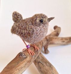 Wren realistic crochet British woodland by FreshlyKnittedThings ♡