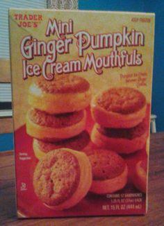 What's Good at Trader Joe's?: Trader Joe's Mini Ginger Pumpkin Ice Cream Mouthfuls