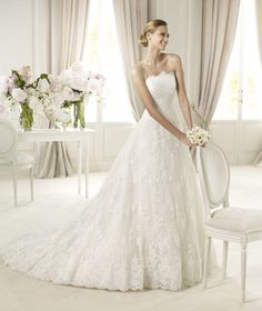 Pronovias te presenta el vestido de novia Berlin. Costura 2013. | Pronovias